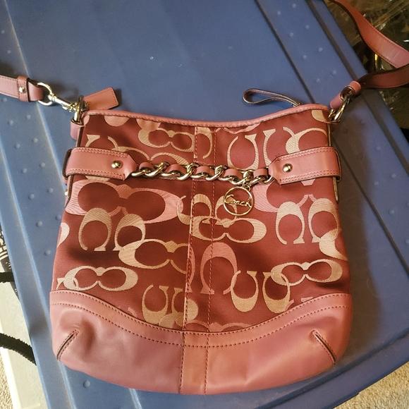 Coach Pink cross body purse